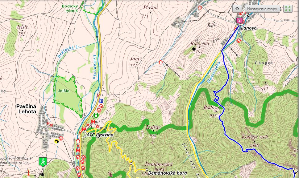 Mapa Rohačka